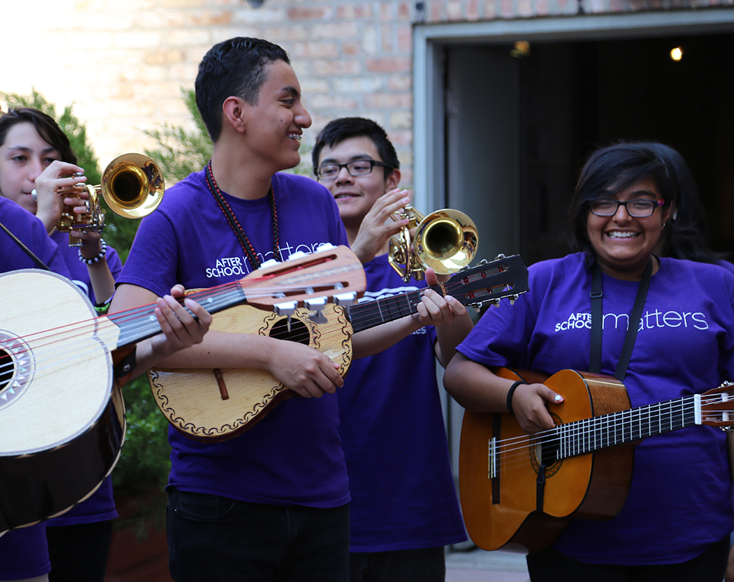 Teens in the After School Matters Mariachi Band perform at Summer Teen Cuisine during summer 2015.