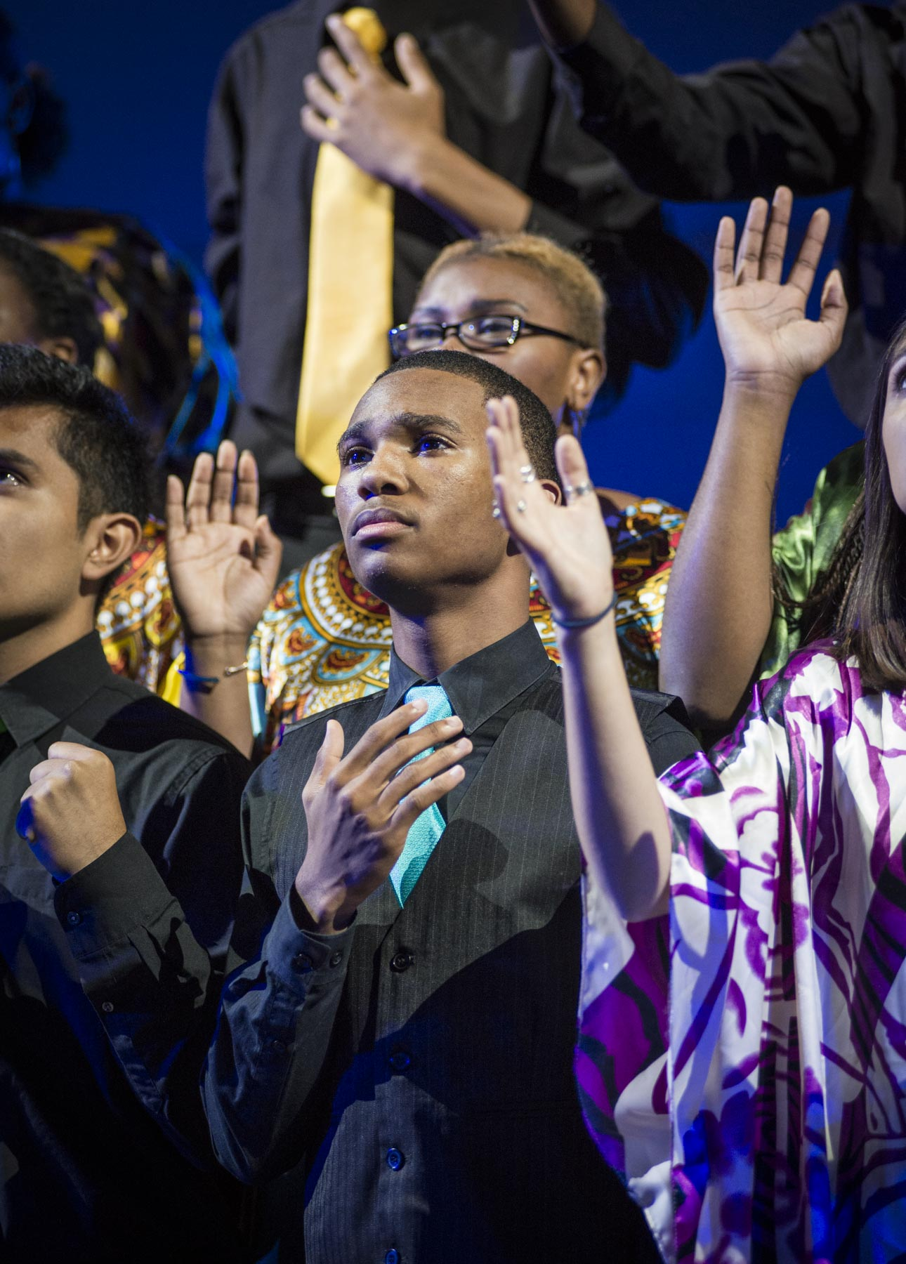 "<p>After School Matters teens perform a moving collaborative piece to the song ""Glory"" from the movie Selma at the After School Matters Annual Gala on September 21, 2015 at Navy Pier. Photo credit: John Martin-Eatinger</p>"