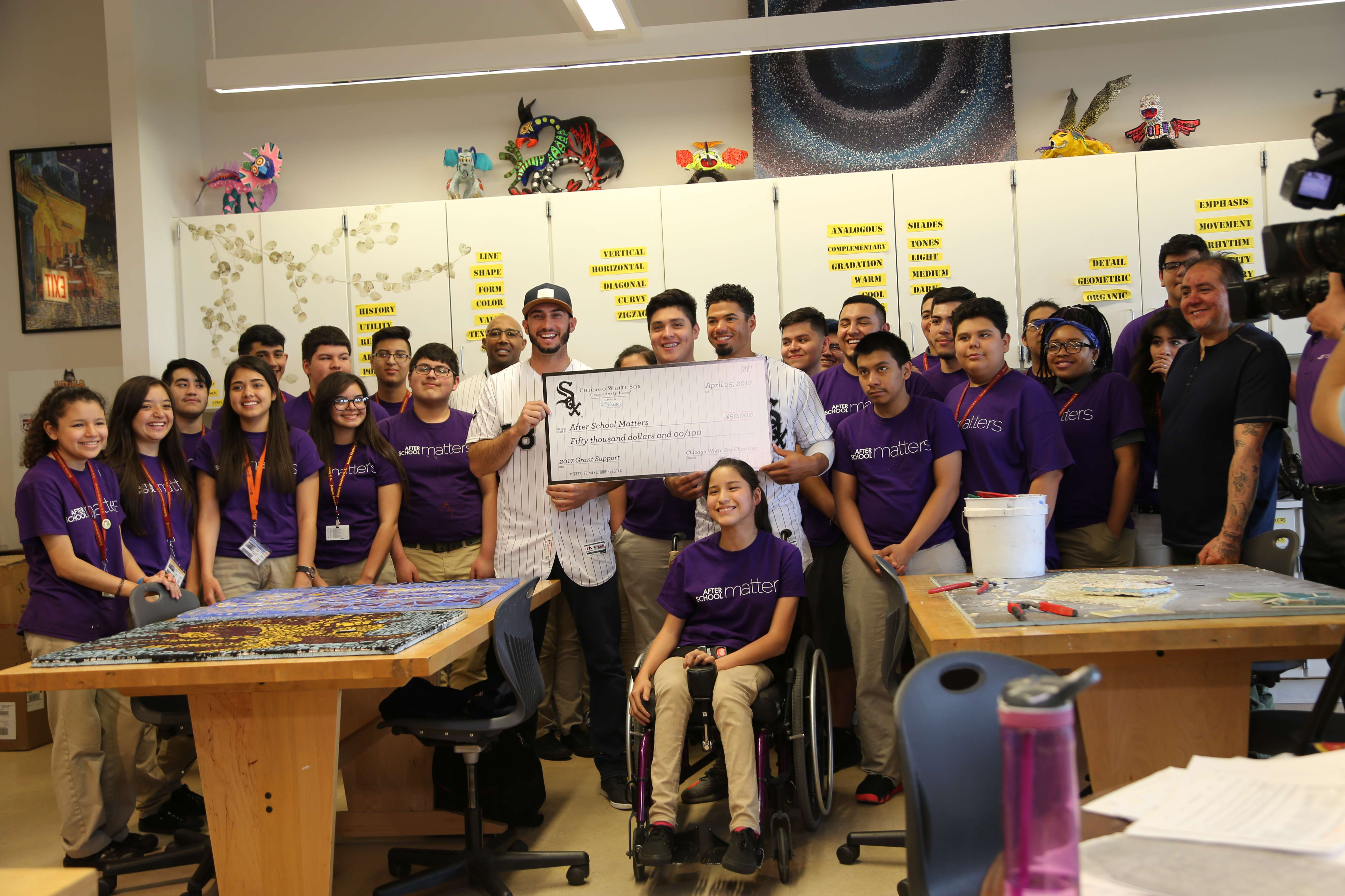 Chicago White Sox Charities presented a $50,000 grant to After School Matters.